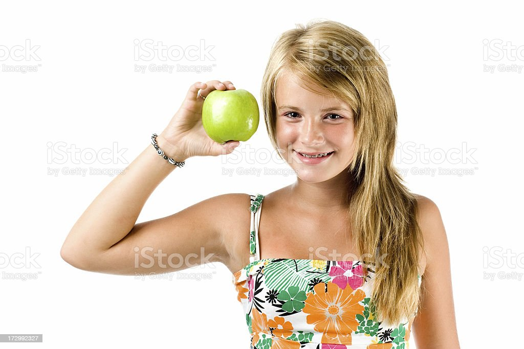 Teenage healthy lifestyle concept royalty-free stock photo