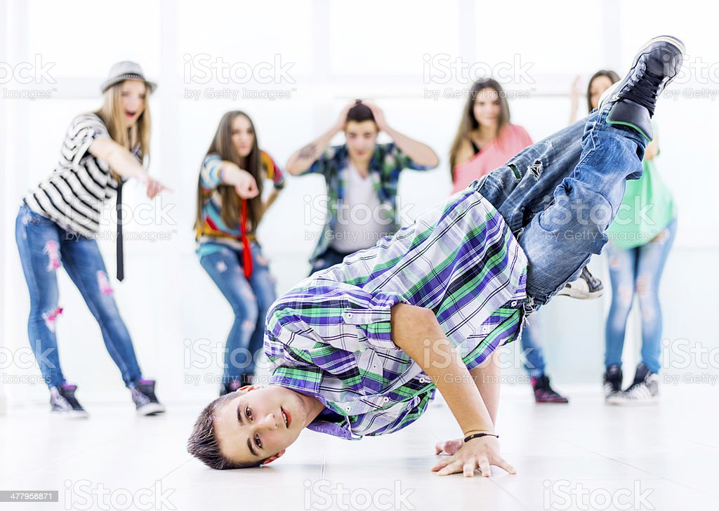 Teenage hip hop dancer. royalty-free stock photo