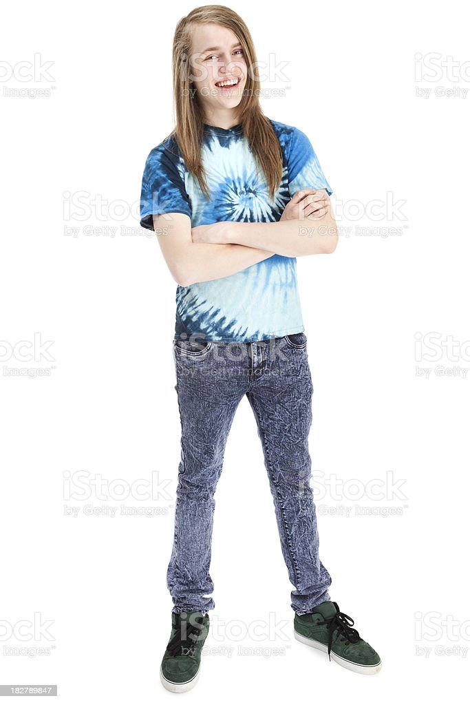 Teenage Hipster royalty-free stock photo