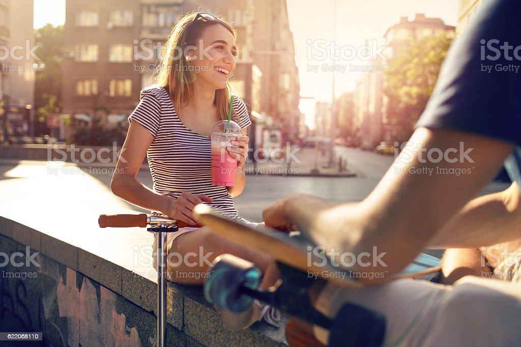 Teenage life stock photo