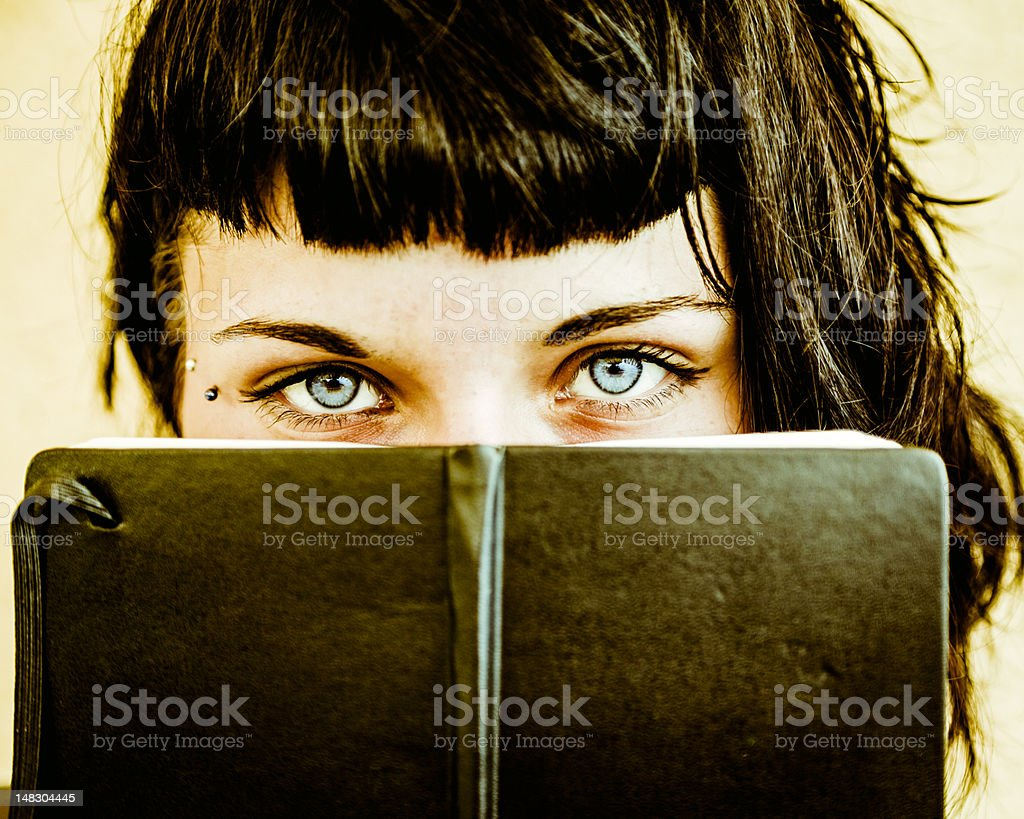 TeenAge Look with Her Personal Diary stock photo
