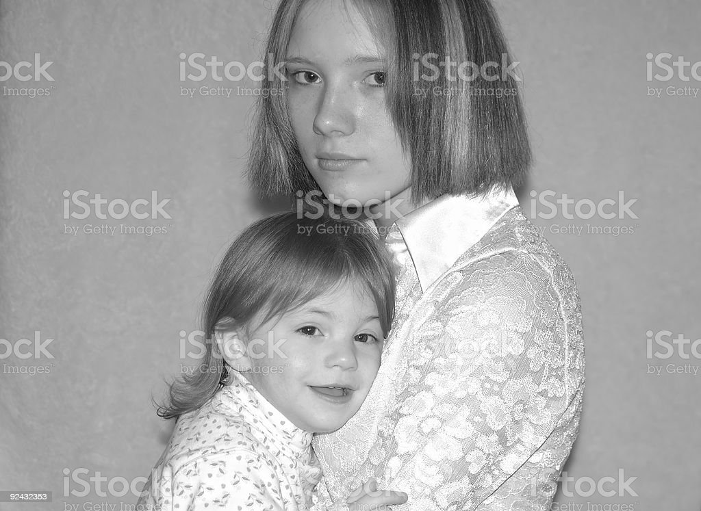 Teenage Mother, Parent, Sisters (Four) royalty-free stock photo