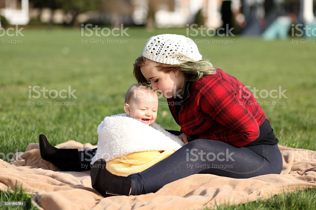 Teenage Mother stock photo