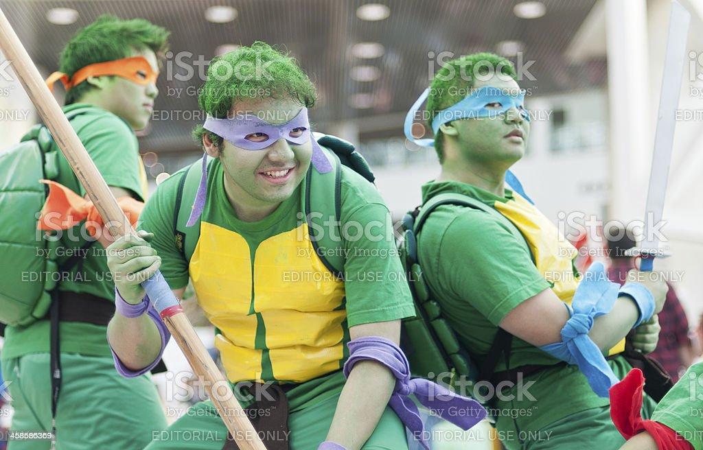 Teenage Mutant Ninja Turtles Cosplayers stock photo