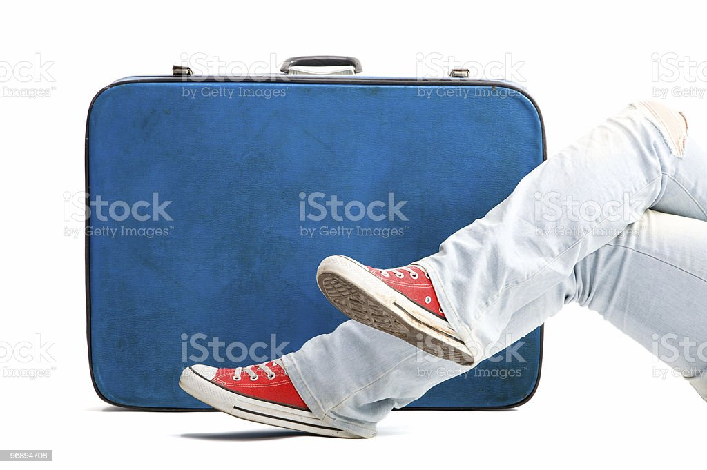 Teenage passenger royalty-free stock photo