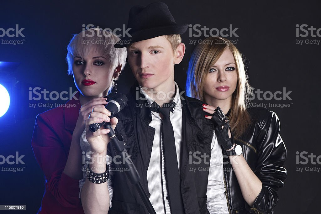Teenage rock band stock photo