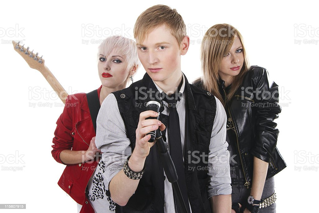 Teenage rock band royalty-free stock photo