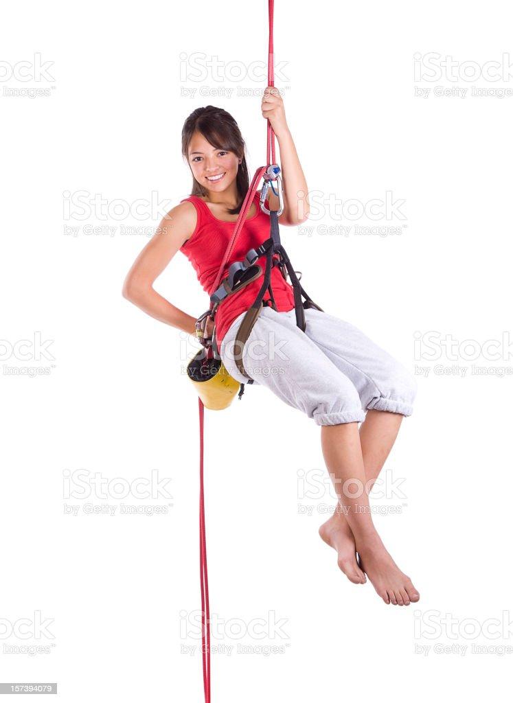 Teenage Rock Climber royalty-free stock photo