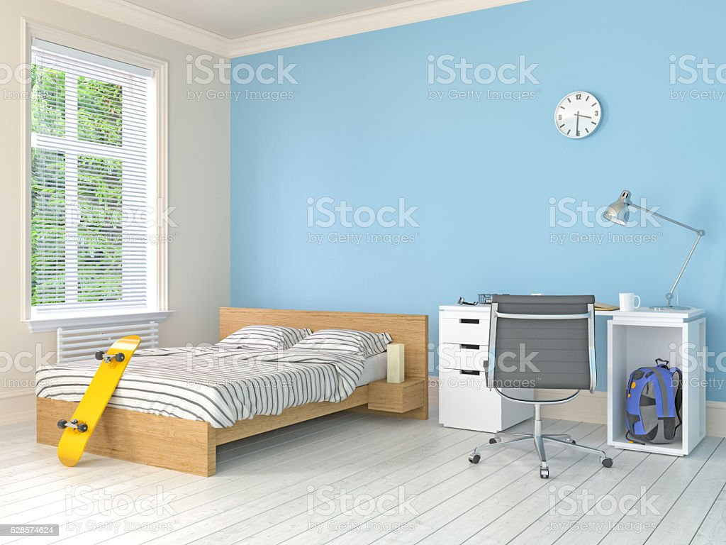 Teenage room stock photo