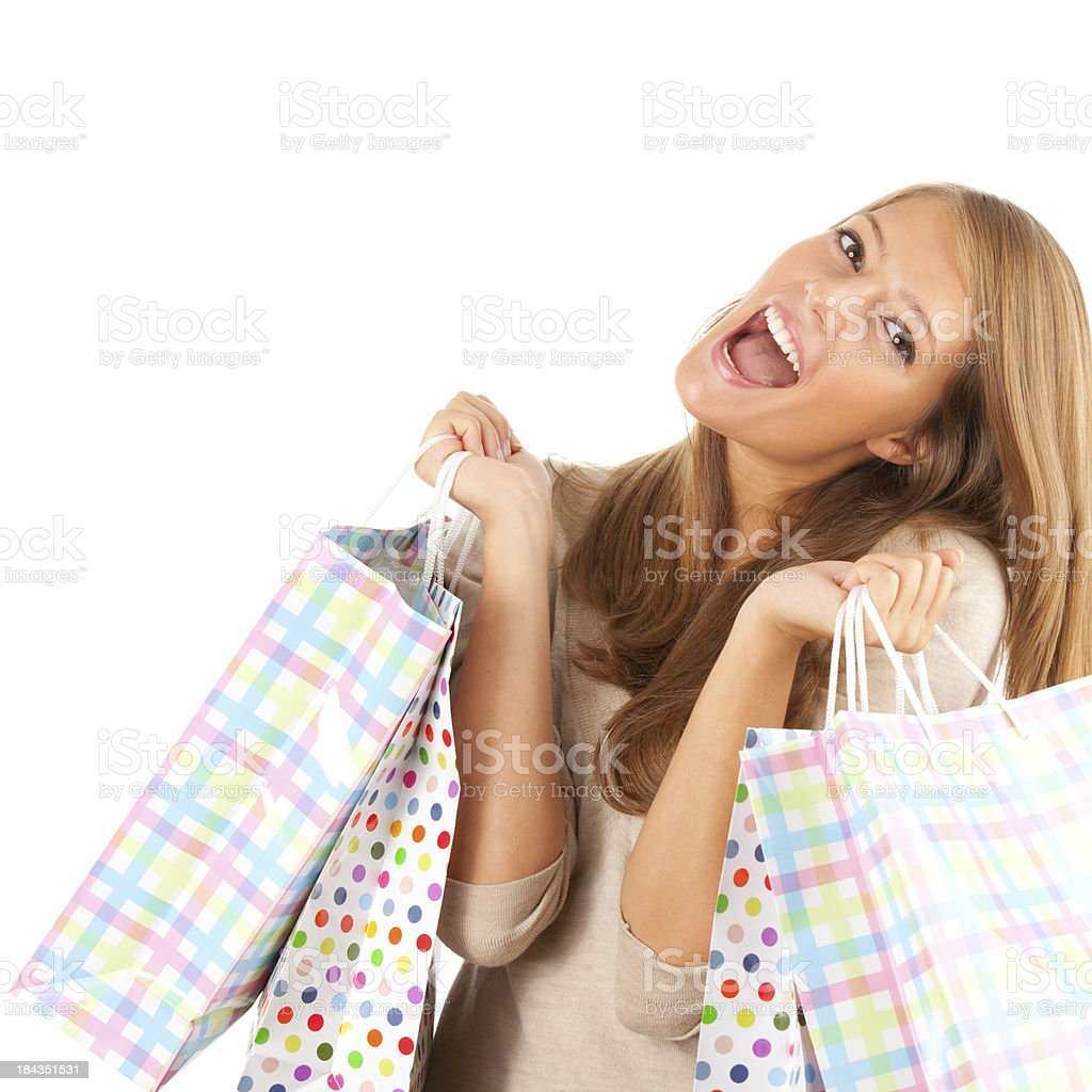 Teenage Shopoholic royalty-free stock photo