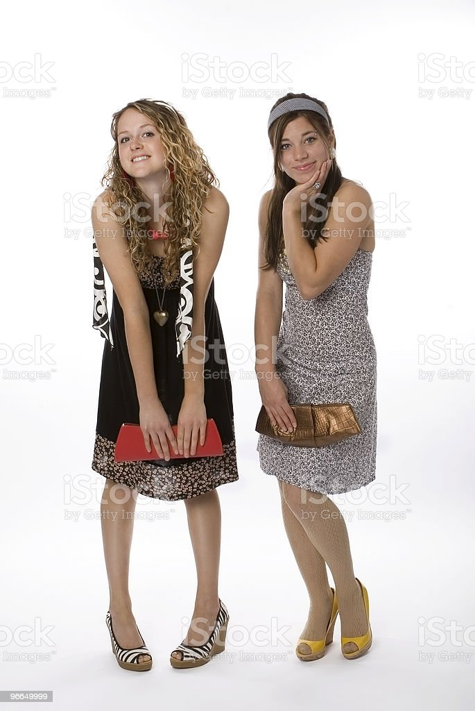 Teenage Sisters royalty-free stock photo
