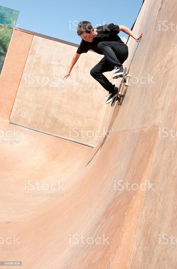 Teenage skateboarder stock photo