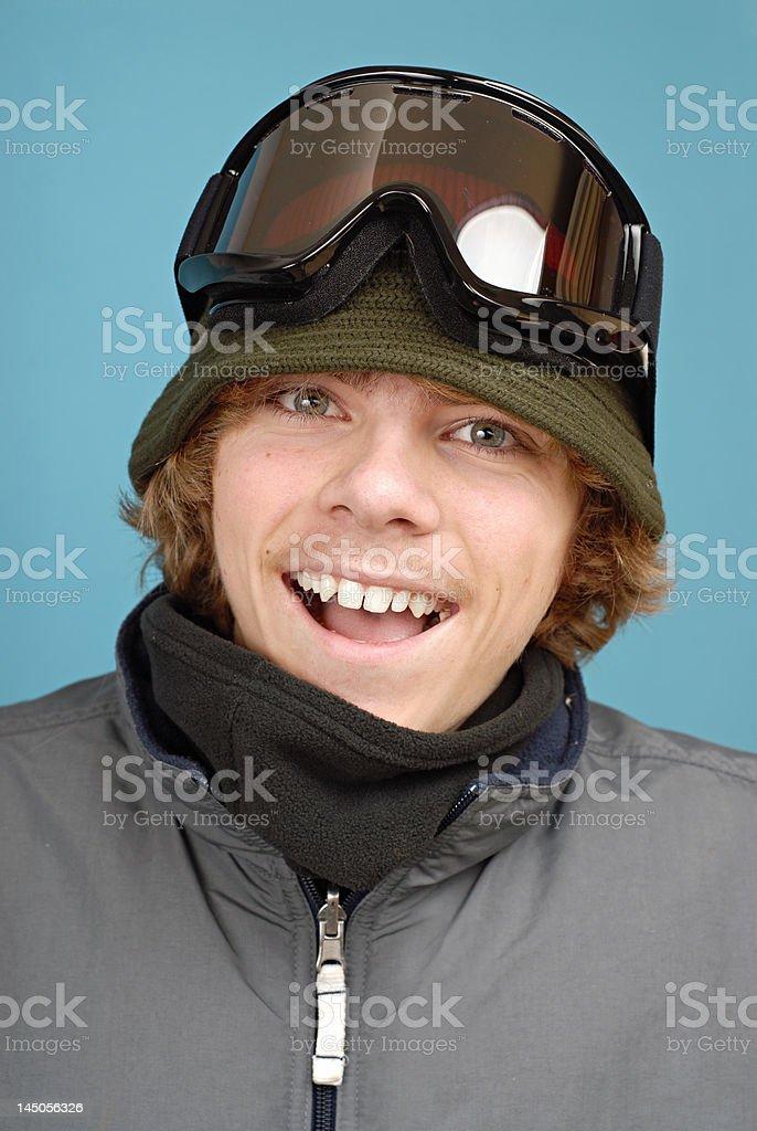 Teenage snowboarder royalty-free stock photo