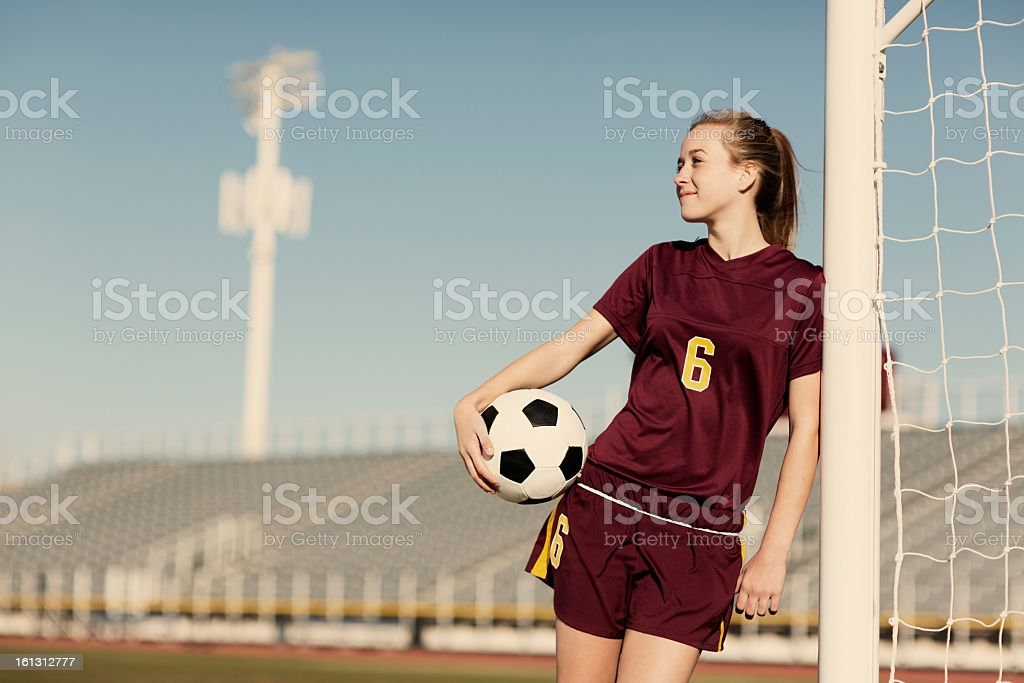 Teenage Soccer Dreams royalty-free stock photo