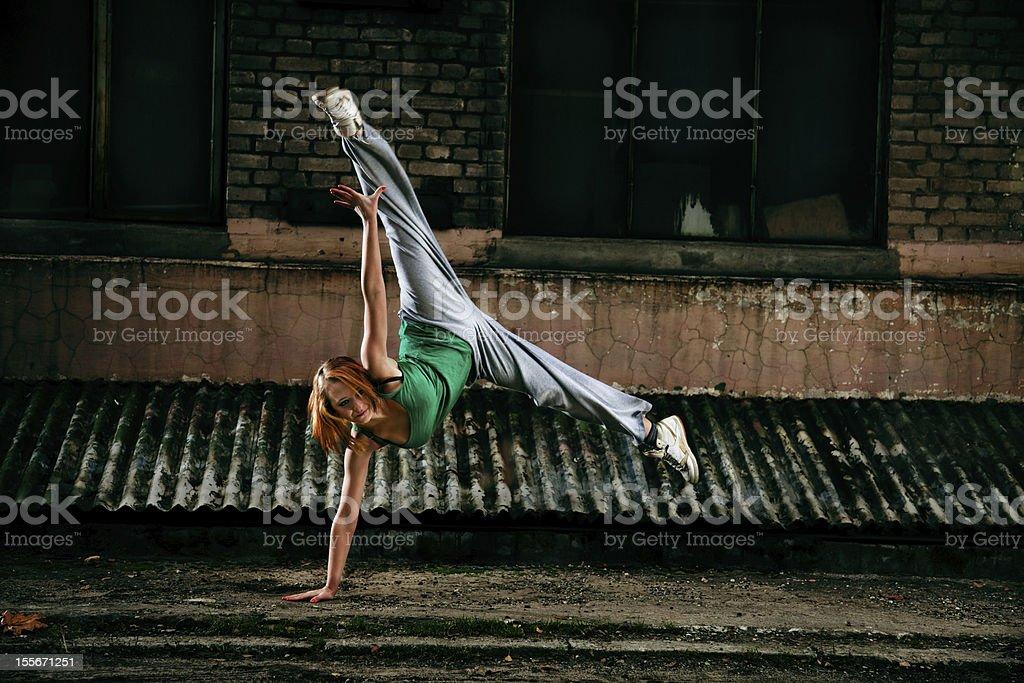Teenage street dancer royalty-free stock photo
