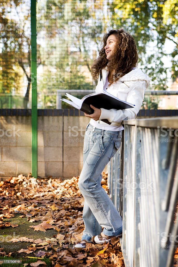 teenage students: enjoying school royalty-free stock photo