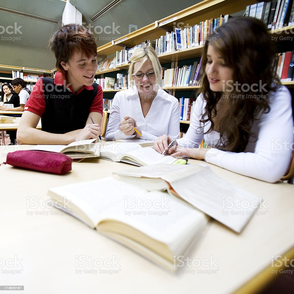 teenage students: linguistics class royalty-free stock photo