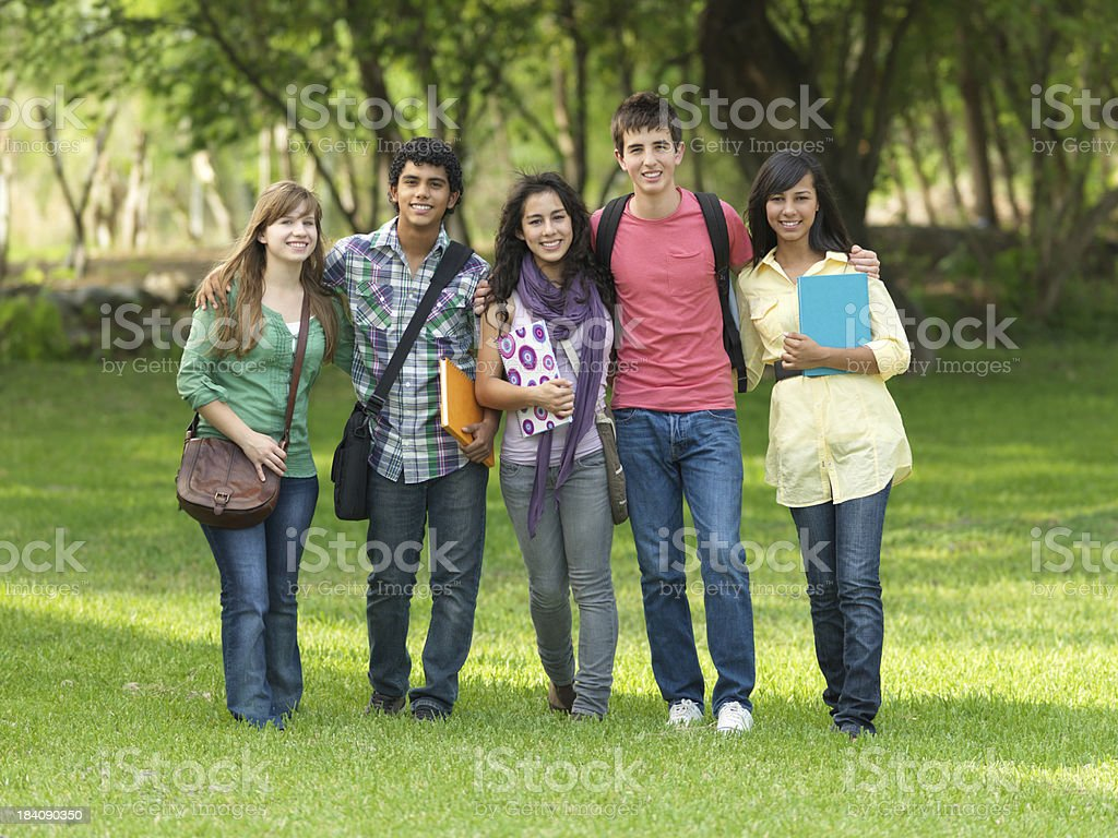 Teenage students royalty-free stock photo