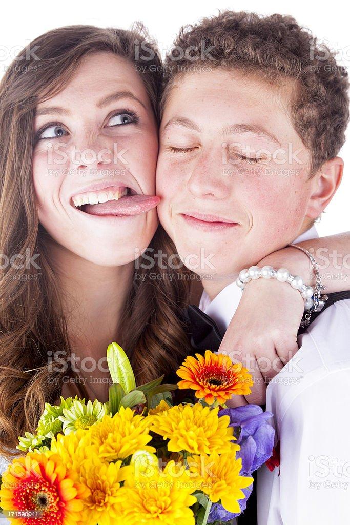 Teenage Sweethearts royalty-free stock photo