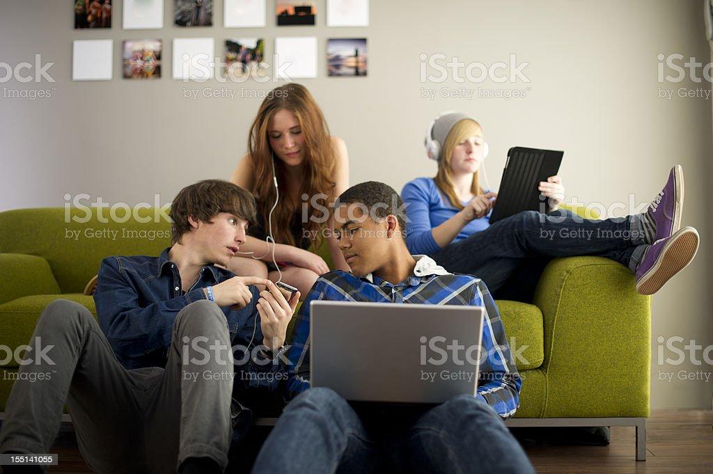 teenage techno royalty-free stock photo