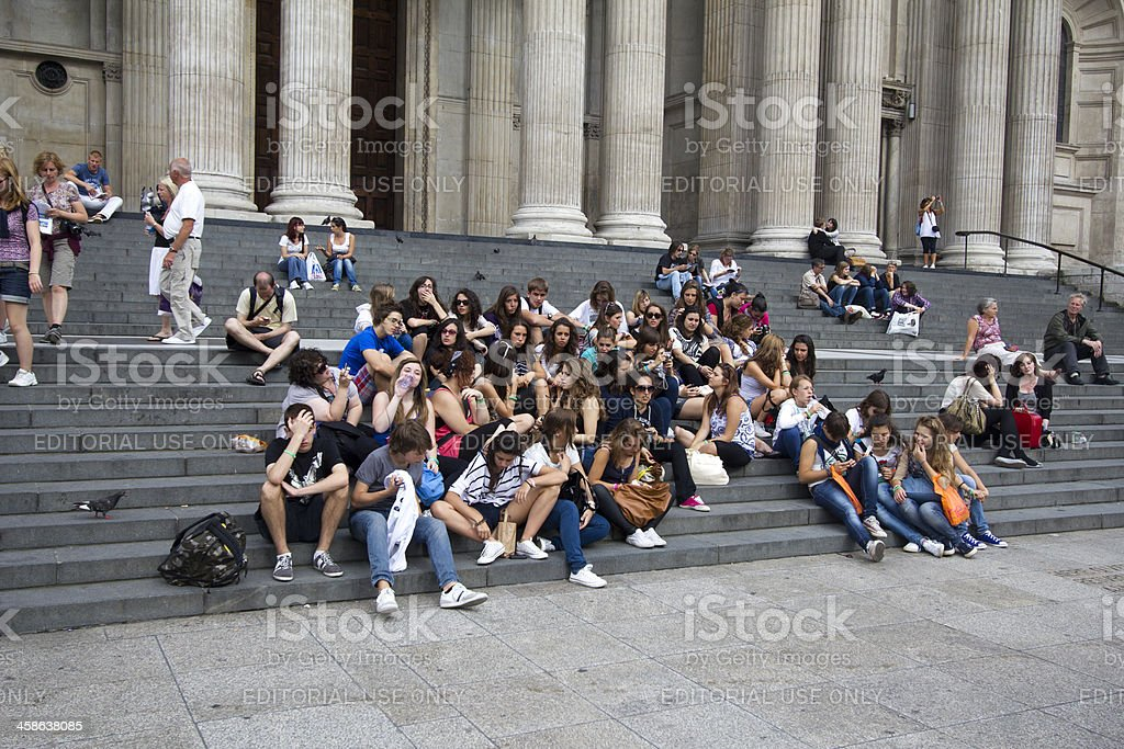 Teenage Tourists stock photo