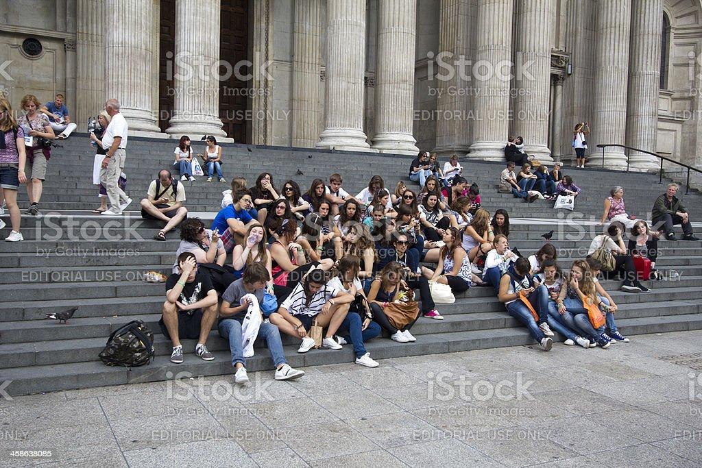 Teenage Tourists stock photo