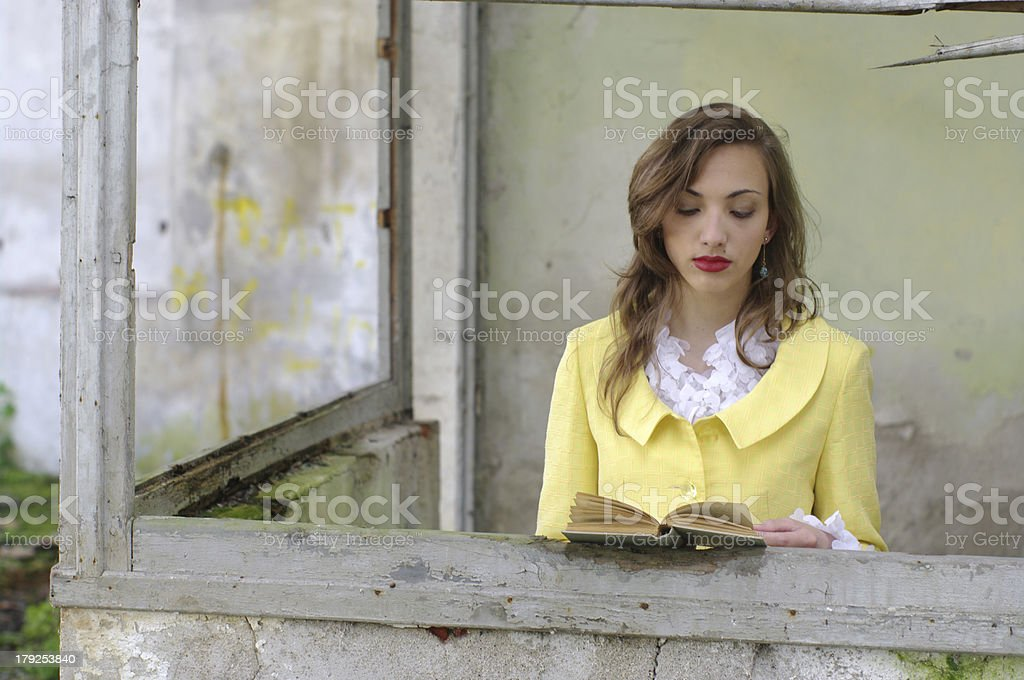 Teenage with book royalty-free stock photo