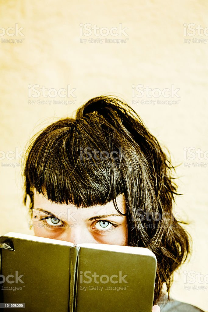 TeenAge with Personal Diary stock photo