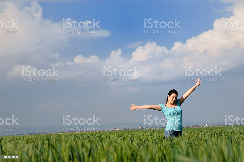 teenager and freedom stock photo