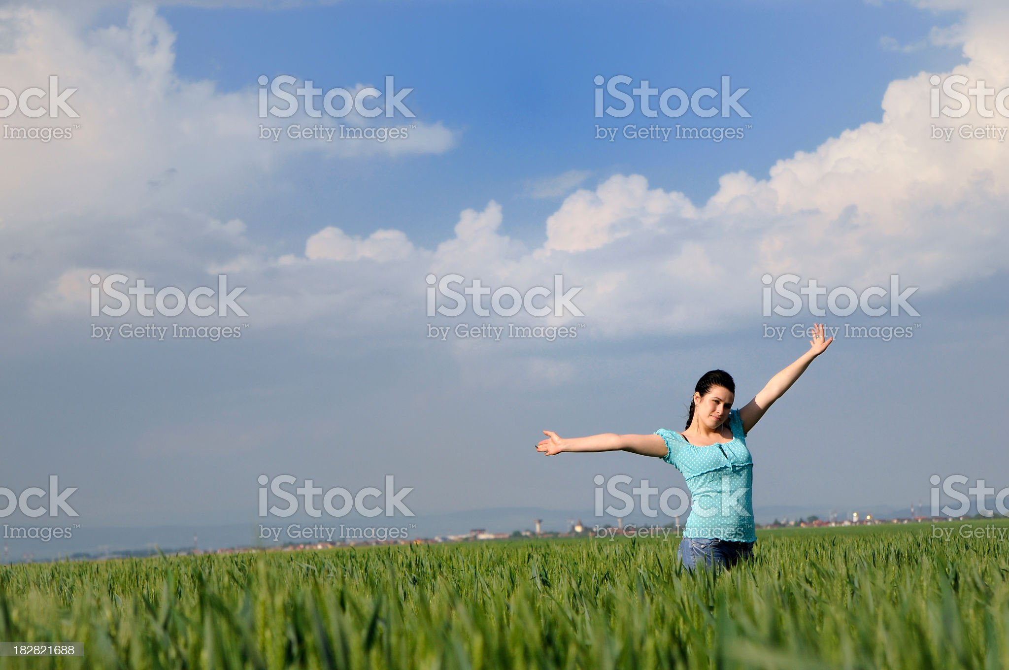 teenager and freedom royalty-free stock photo