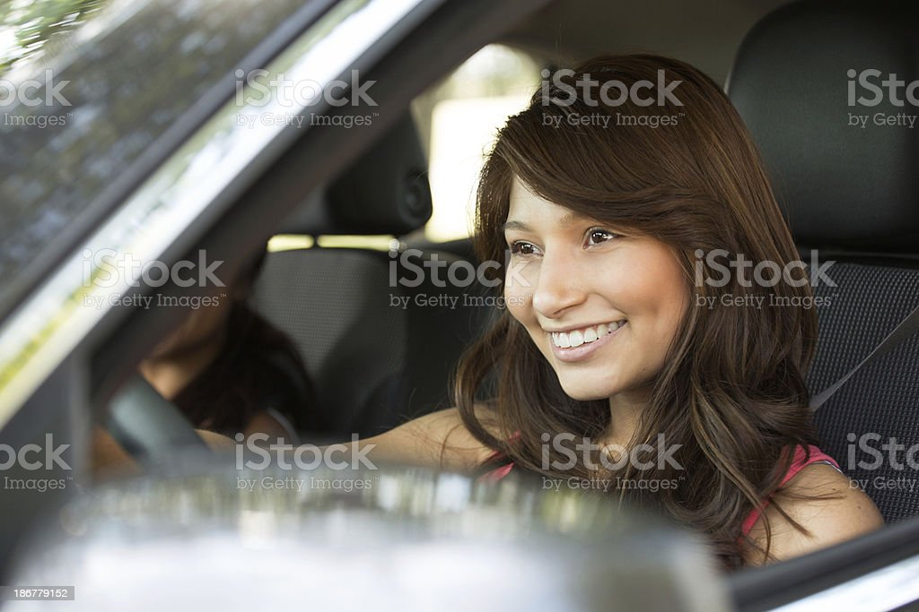 Teenager Driving royalty-free stock photo