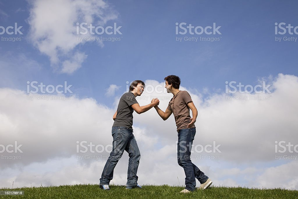 Teenager friendship royalty-free stock photo
