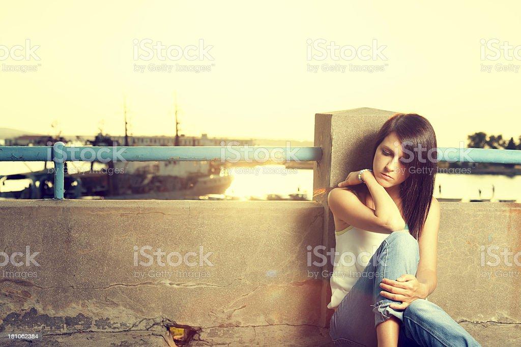 Teenager girl royalty-free stock photo
