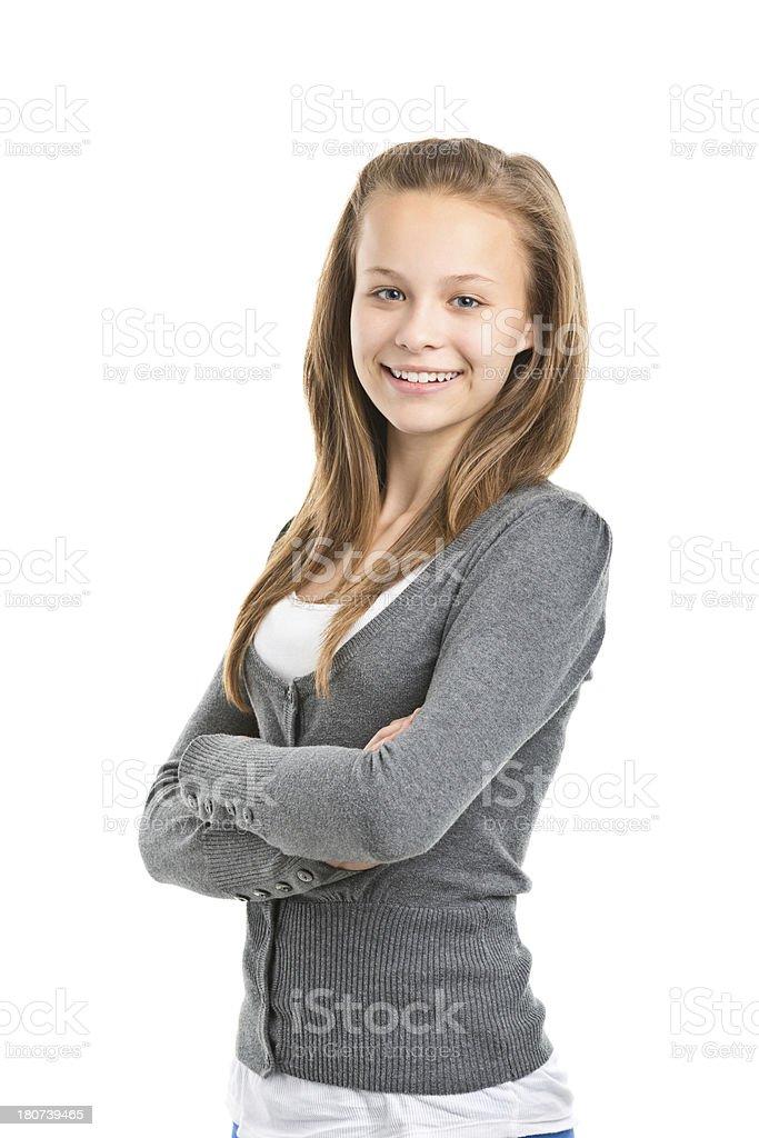 teenager girl standing royalty-free stock photo