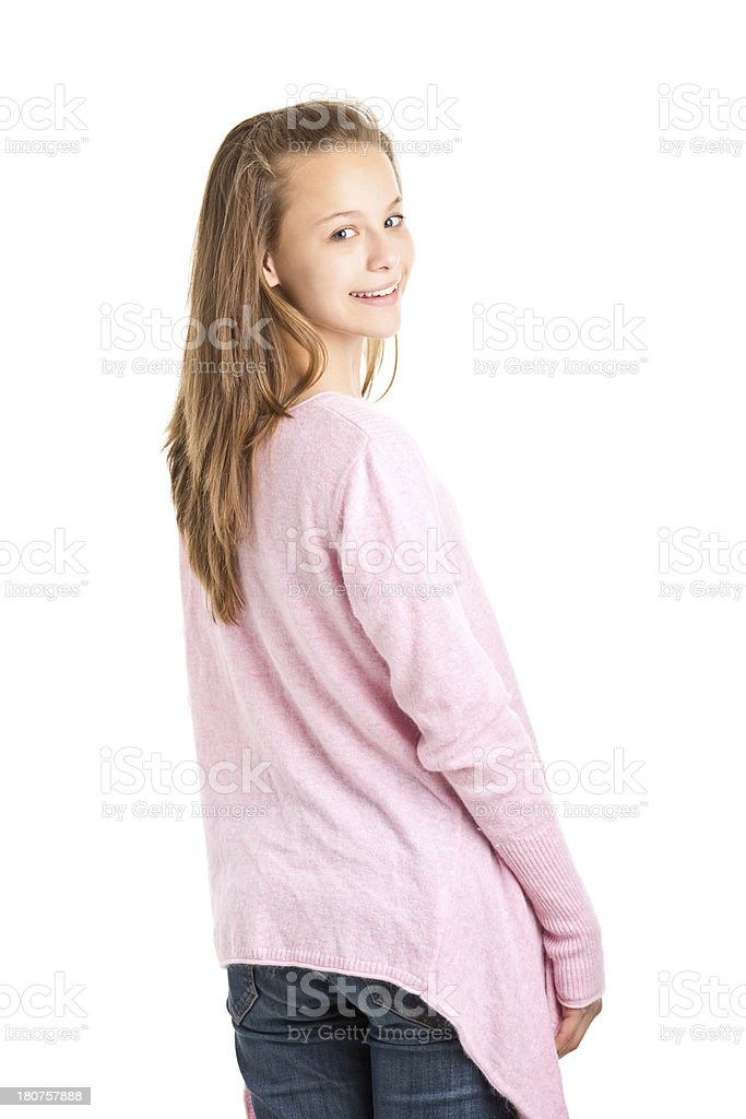 teenager girl standing royalty-free stock photo