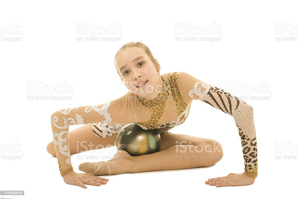 Teenager gymnast royalty-free stock photo