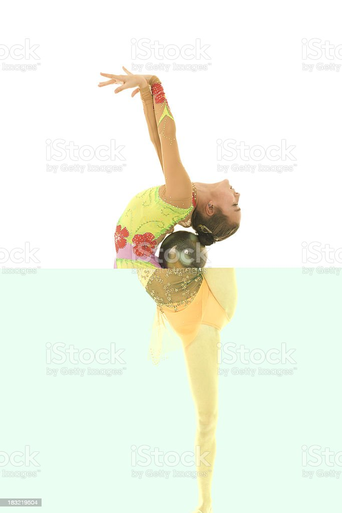Teenager gymnast royalty-free stock photo