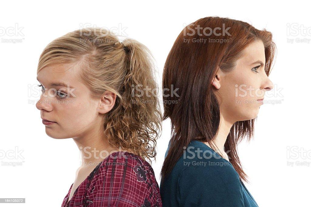 Teenager having adispute stock photo