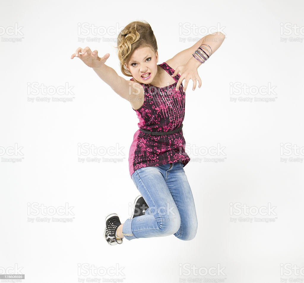 Teenager in bounce, dressed rock style royalty-free stock photo