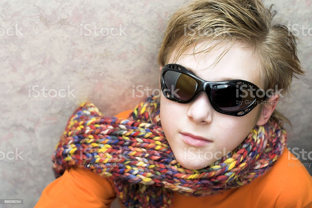 Teenager in sunglasses royalty-free stock photo