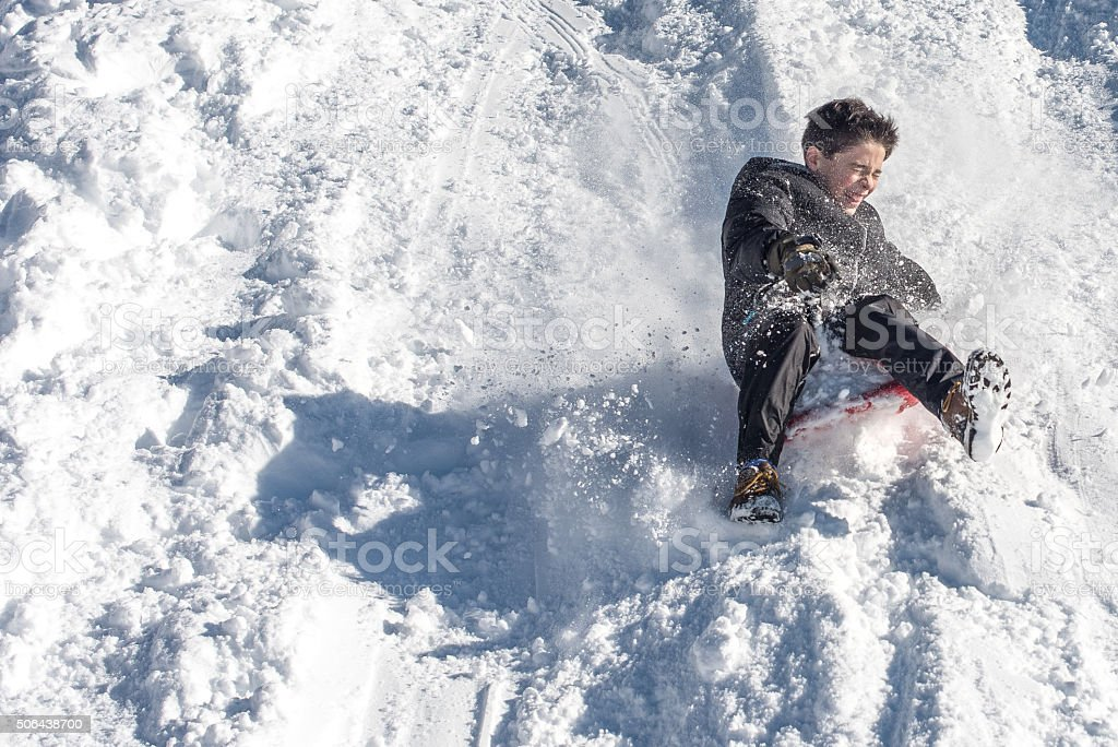 Teenager in the Slopes stock photo
