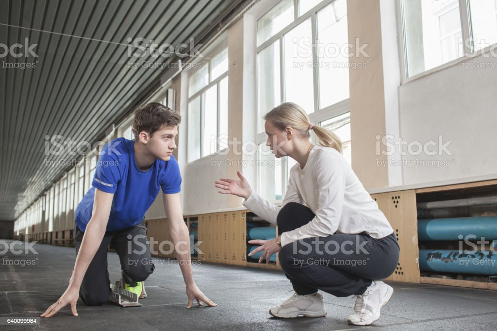 teenager involved in sports stock photo