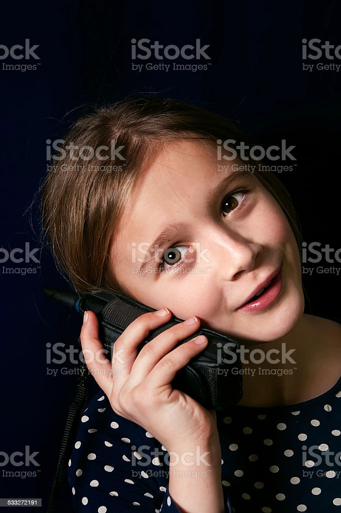 Teenager On a Cellular Phone stock photo