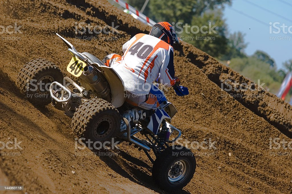 teenager riding his quad royalty-free stock photo