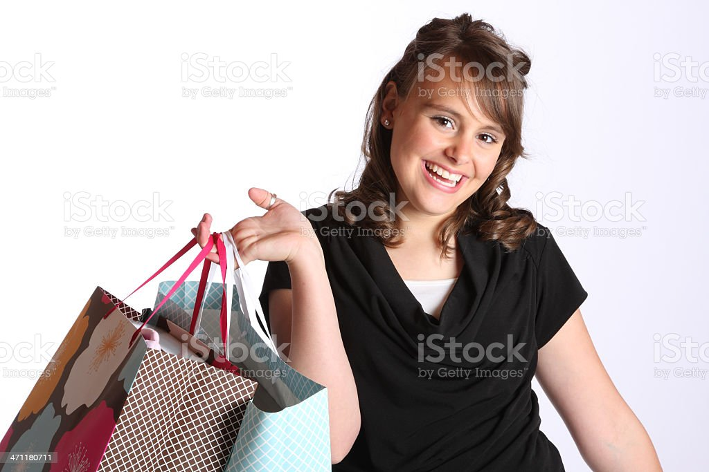 Teenager Shopping  Series royalty-free stock photo