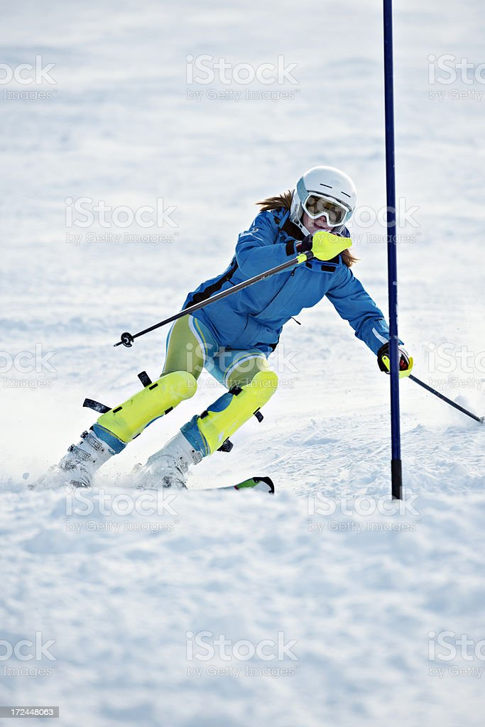 teenager skier royalty-free stock photo