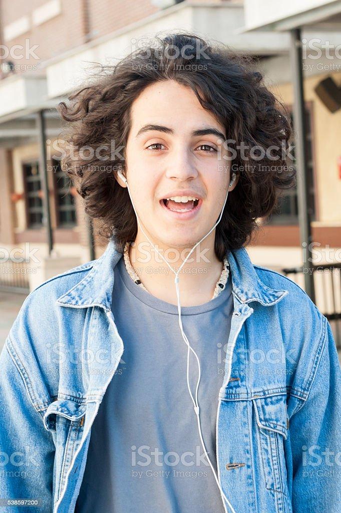 Teenager Smiling stock photo