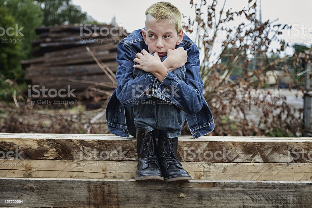 teenager social issues depression royalty-free stock photo