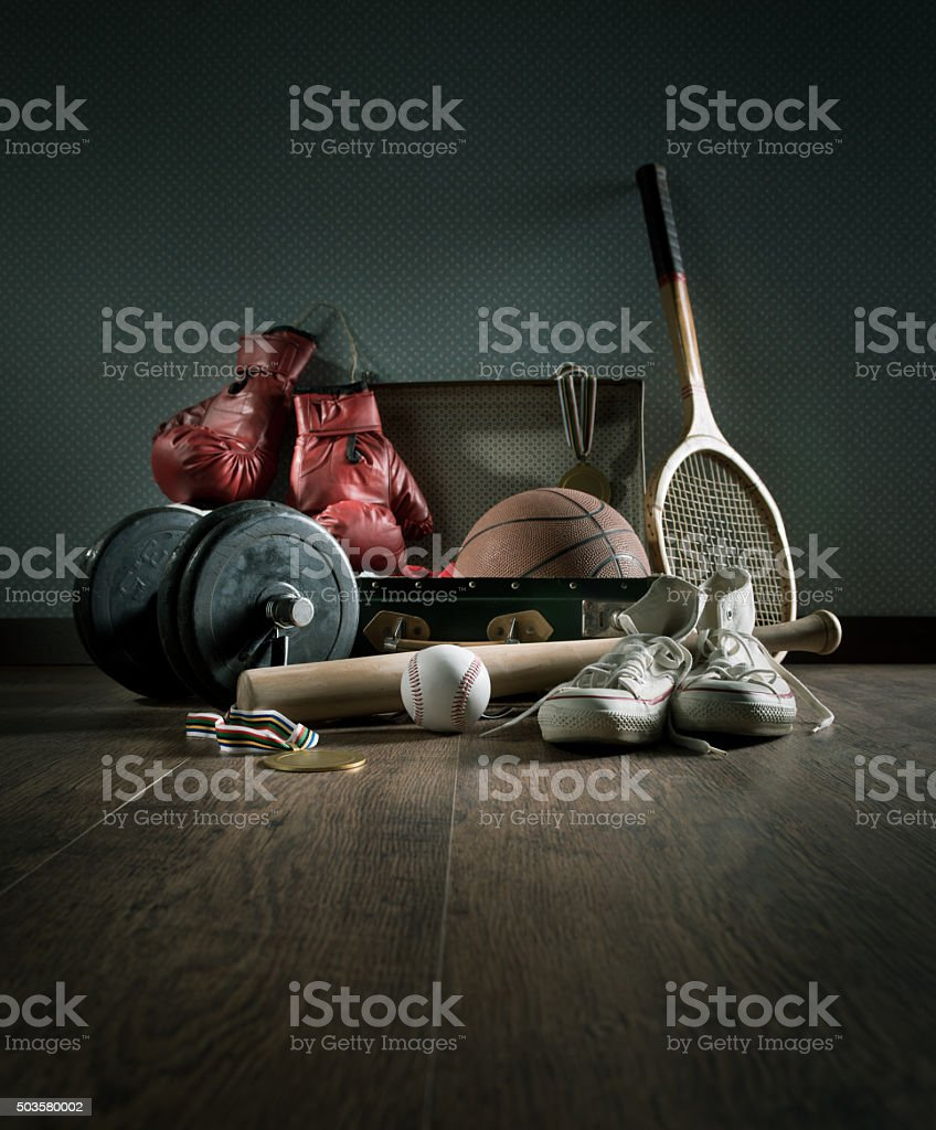 Teenager sports equipment stock photo