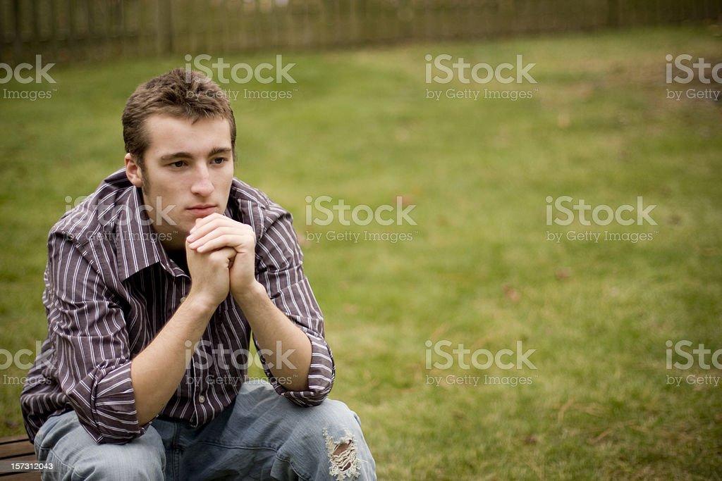Teenager Thinking royalty-free stock photo